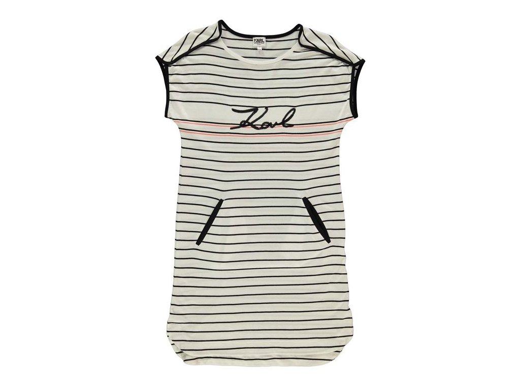 Šaty Karl Lagerfeld Pruhované