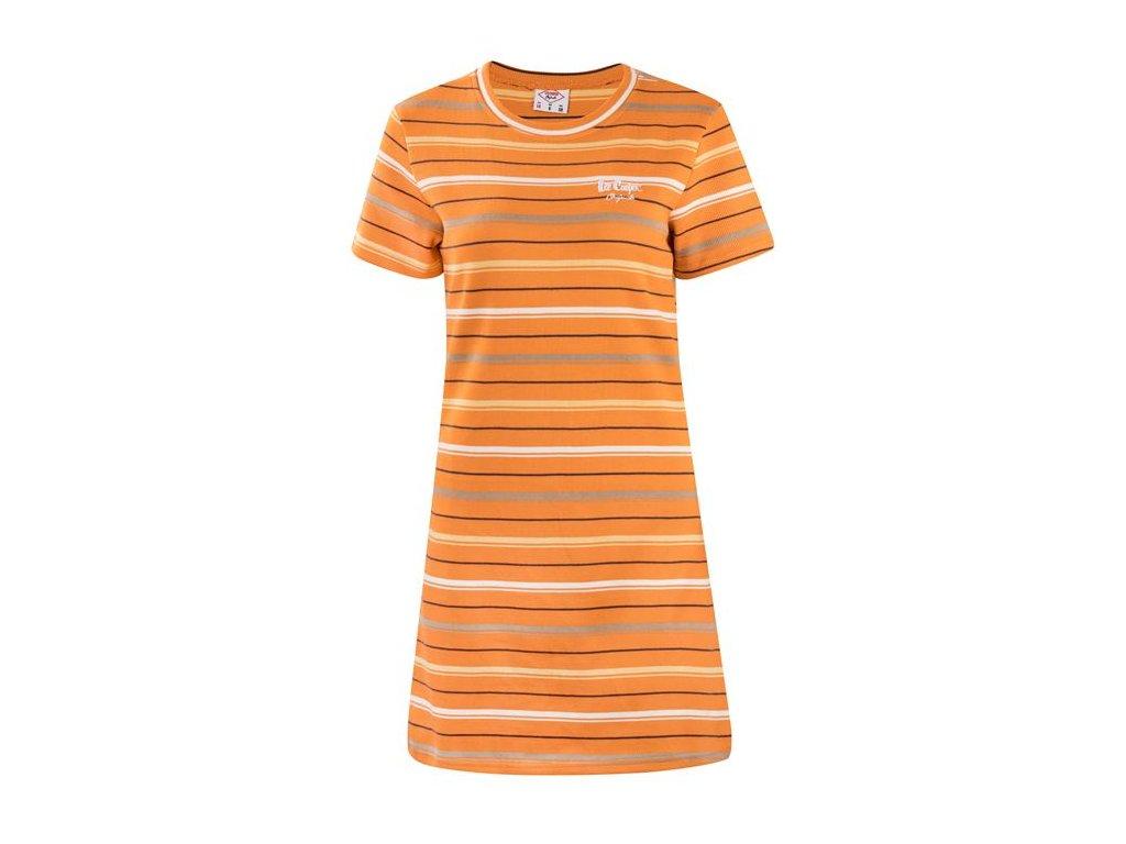 Šaty Lee Cooper Stripers Oranžové
