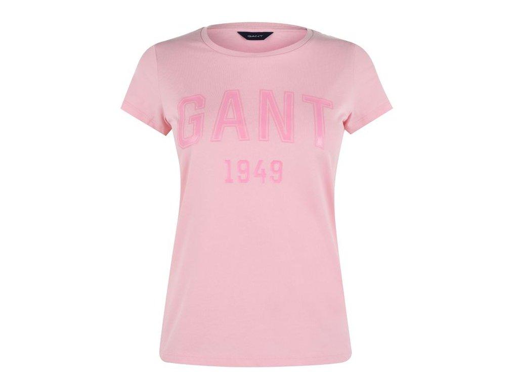Dámské triko Gant Tee Růžové