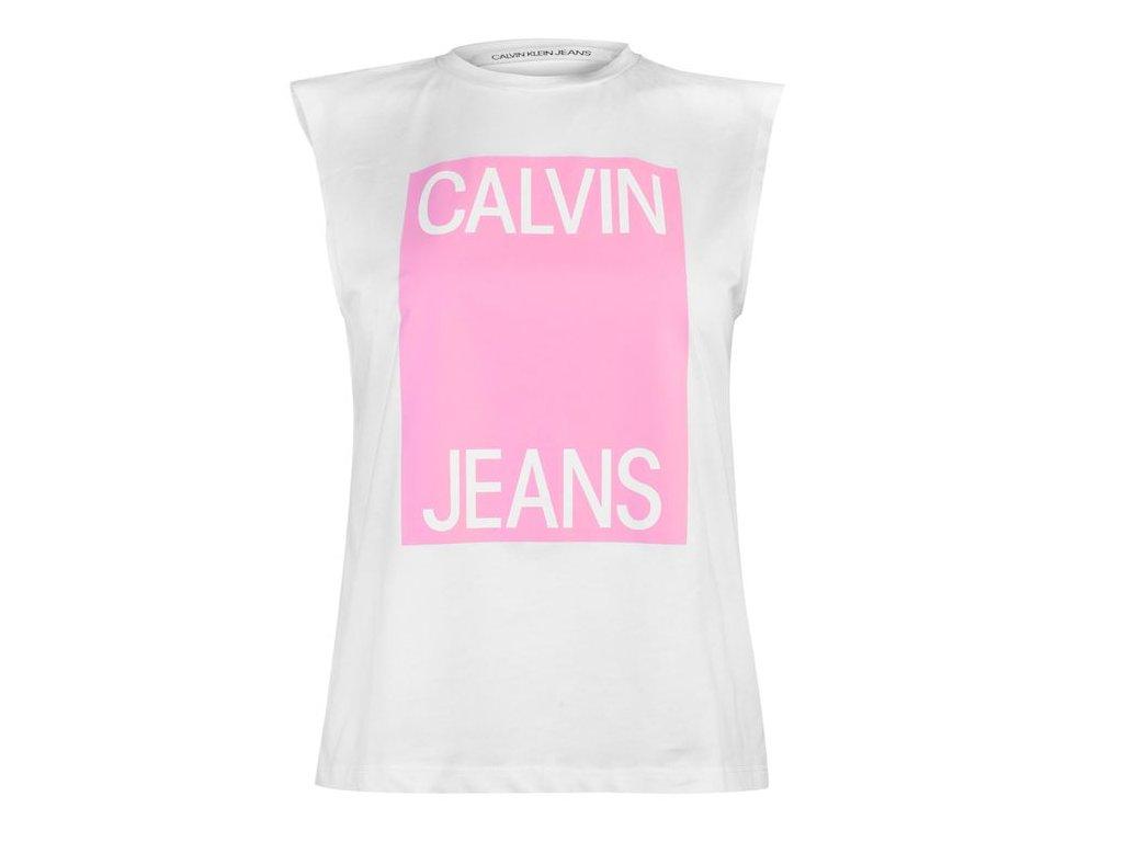 Dámské tílko Calvin Klein Muscle Bílé
