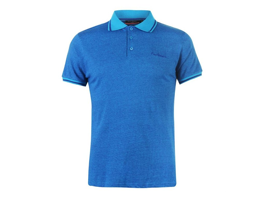Pánské triko Pierre Cardin Pin Stripe Polo Modré