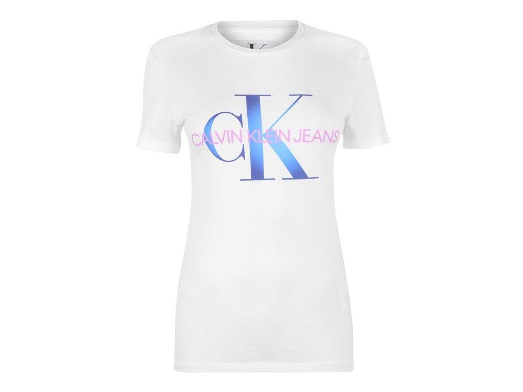 Dámské triko Calvin Klein Mono Logo Bílé
