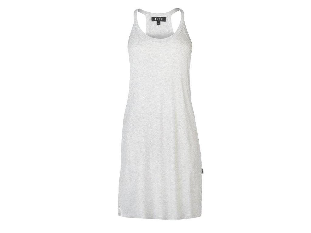 Dámské šaty DKNY Logo Back Šedé
