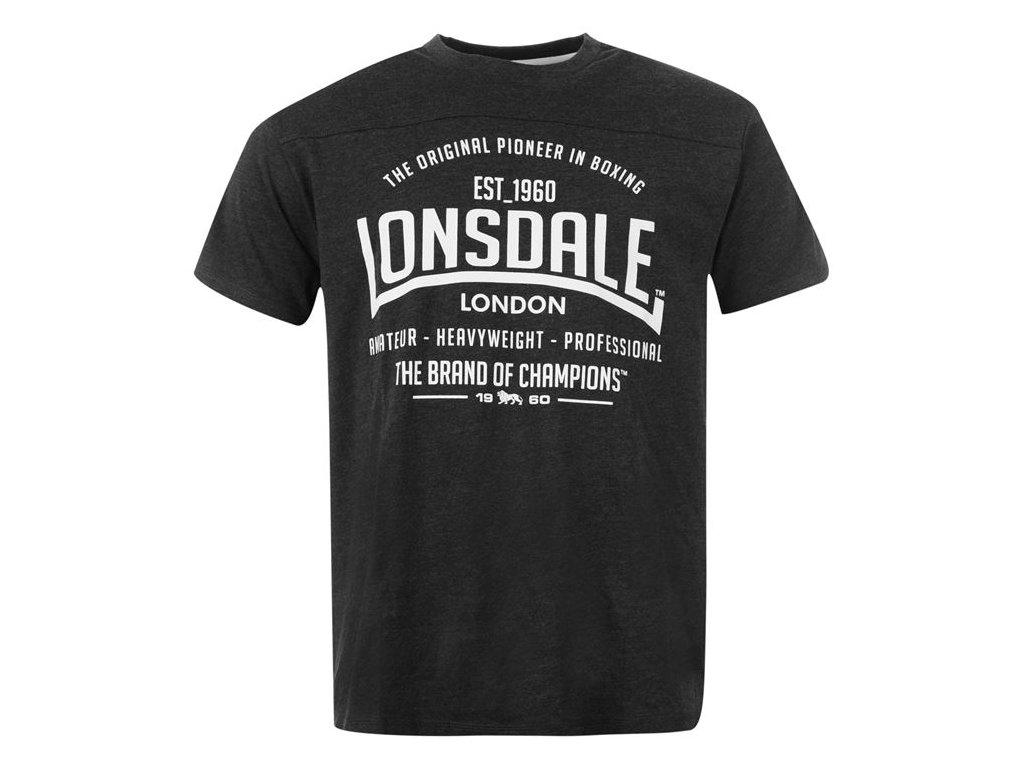 Polo Triko Lonsdale Box Černé