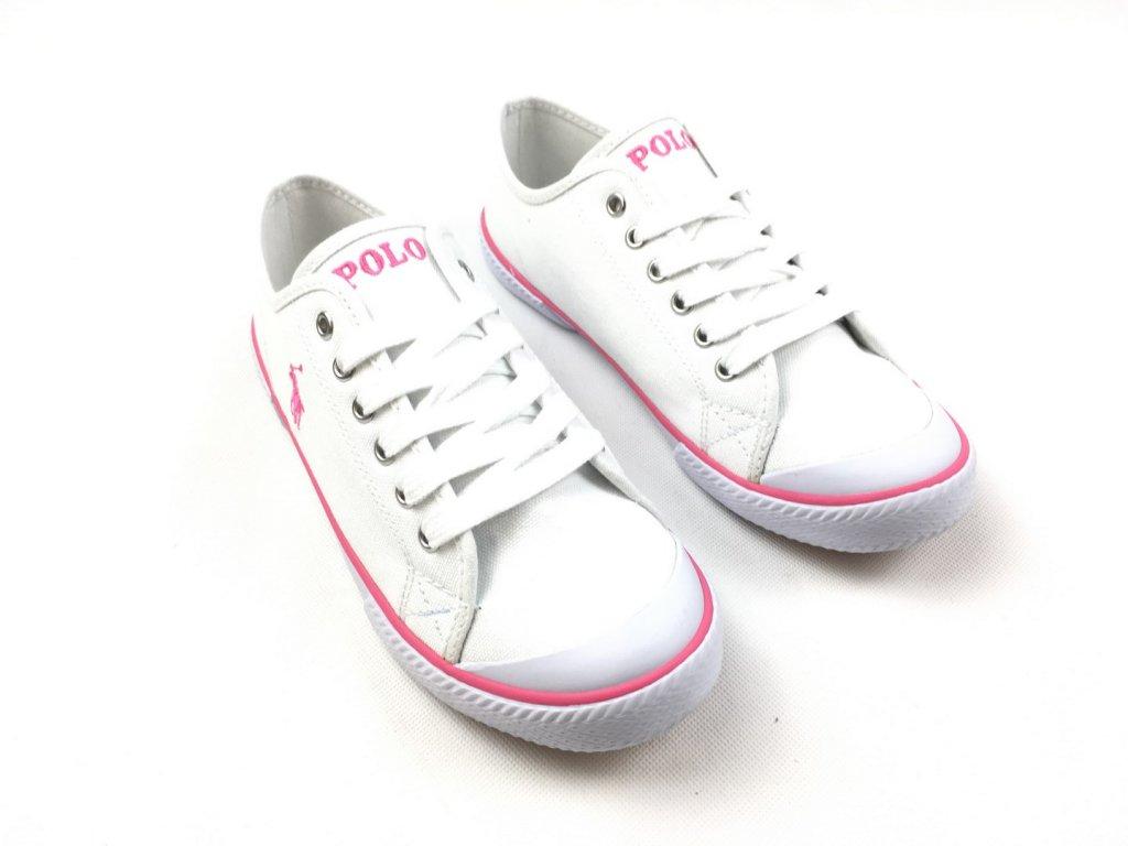 Dámské boty Ralph Lauren Canvas Chaz Pink