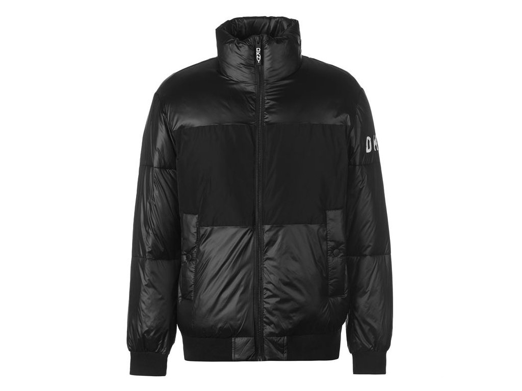 Dámská bunda DKNY Tonal Bubble Černá