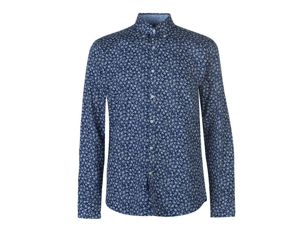 Pánská košile Pierre Cardin Floral Blue/White Floral