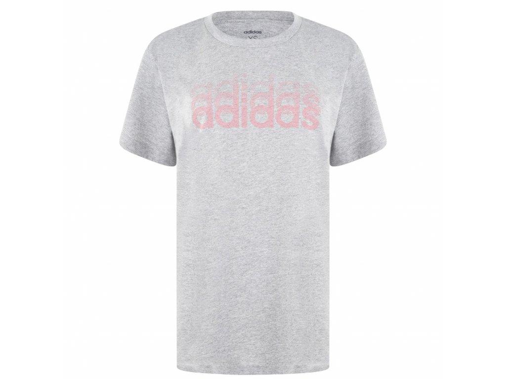 Dámské triko adidas Line Repeat Šedé