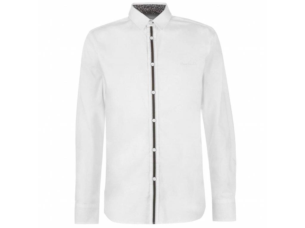 Pánská košile s dlouhým rukávem Pierre Cardin Tape Bílá