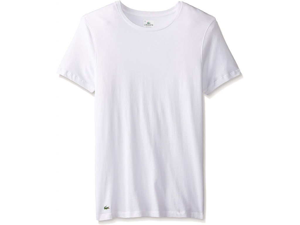 Pánské triko Lacoste Essentials Slim Bílé