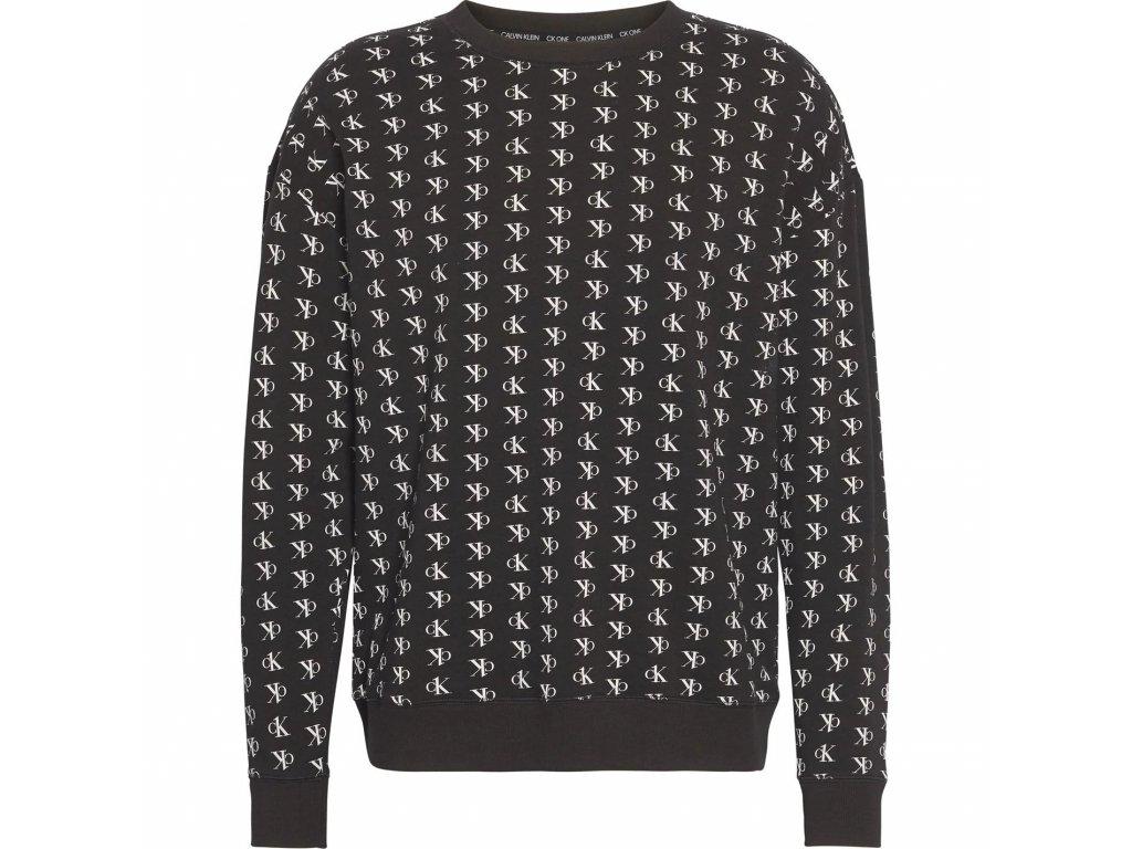 Pánská mikina Calvin Klein Print Sweatshirt Černá