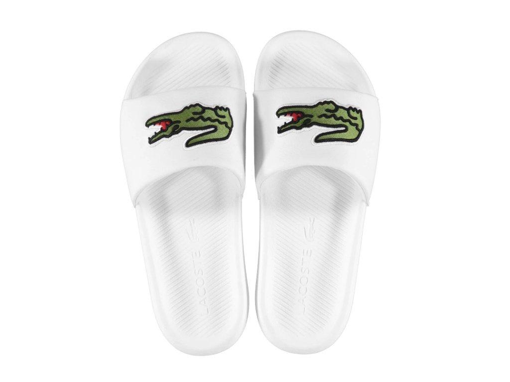Pánské boty pantofle Lacoste Croco Bílé