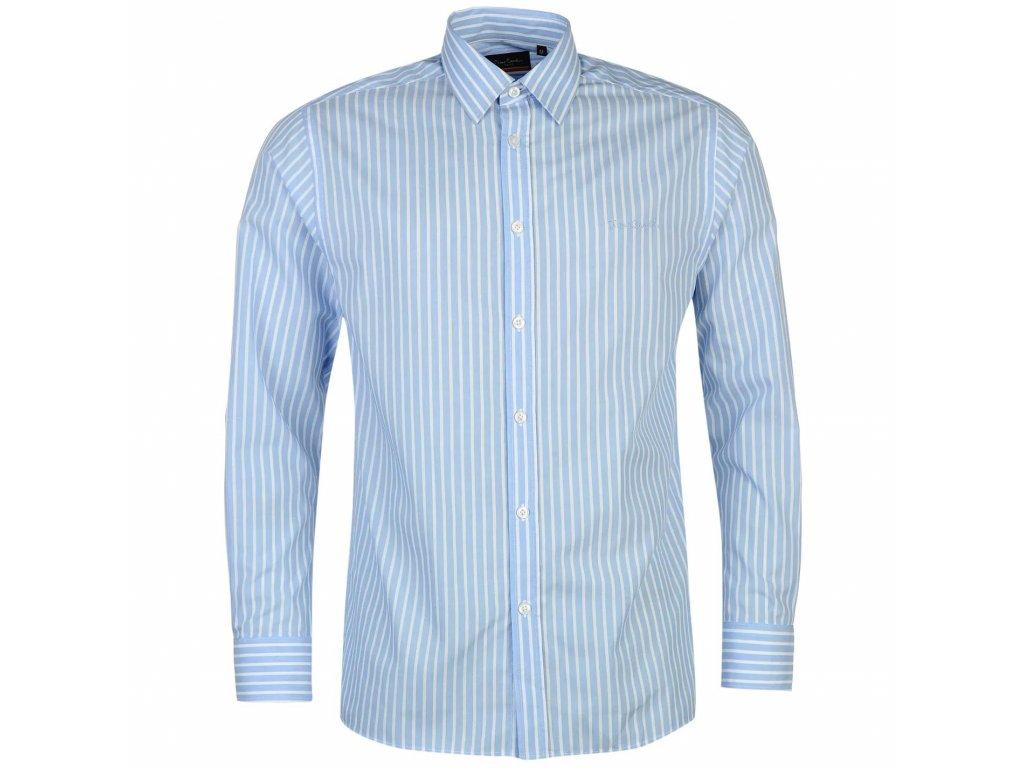 Pánská Košile s dlouhým rukávem Pierre Cardin Modro bílá