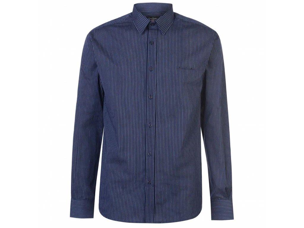 Pánská Košile s dlouhým rukávem Pierre Cardin Navy s proužky