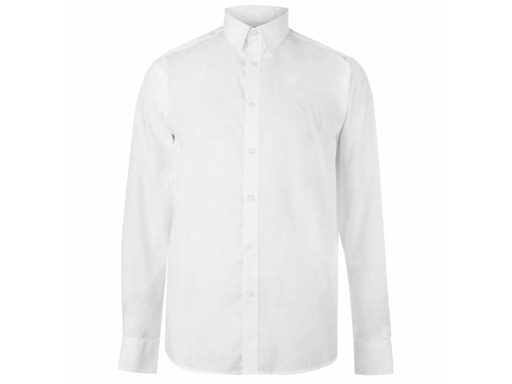 Pánská Košile s dlouhým rukávem Pierre Cardin Bílá Plain