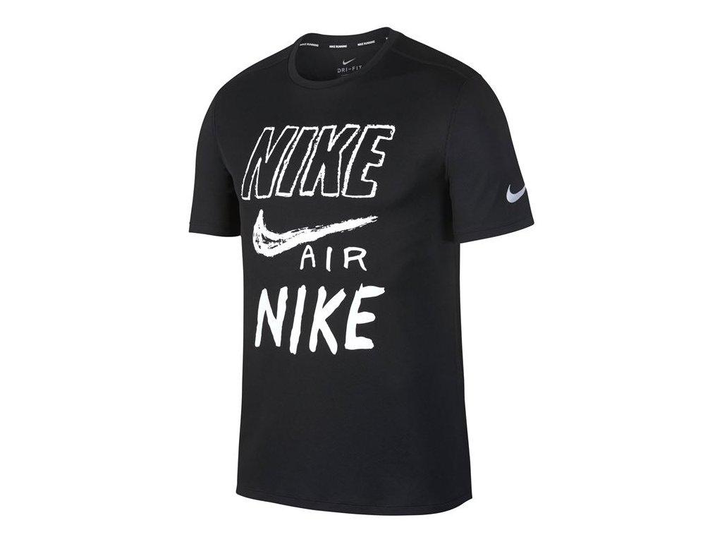 Pánské triko Nike Run Breathe Černé