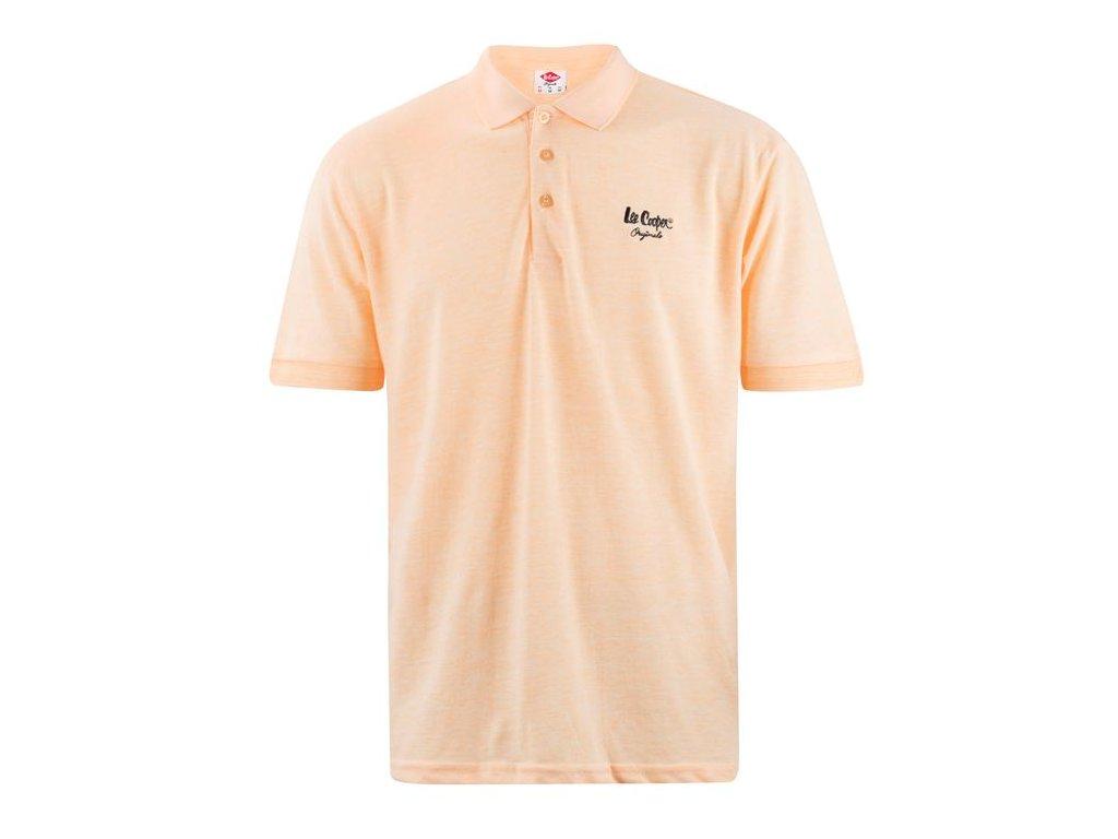 Pánské triko Lee Cooper Polo Oranžové
