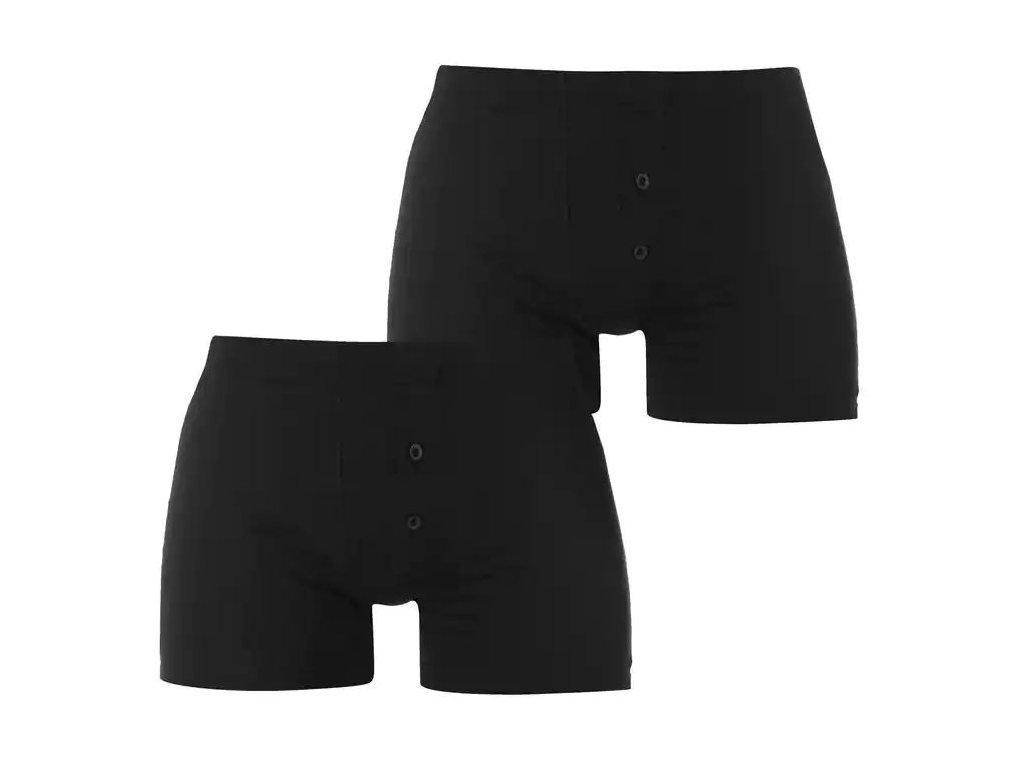 Boxerky Slazenger 2 v balení Black/Black