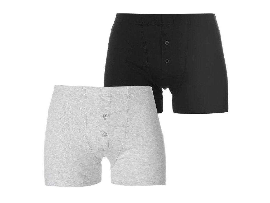 Boxerky Slazenger 2 v balení Black/Grey