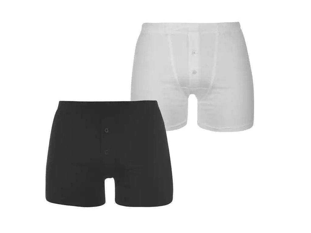 Boxerky Slazenger 2 v balení Black/White