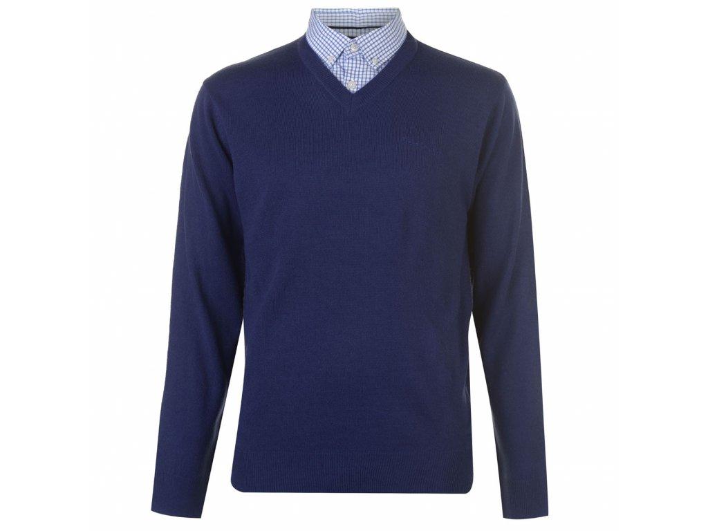 Pánský svetr Pierre Cardin Mock Modrý