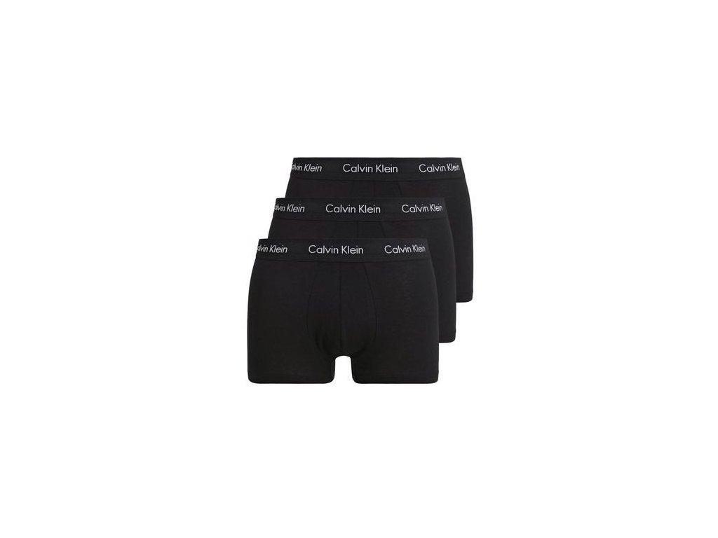 calvin klein underwear stretch trunk 3 pack panty black