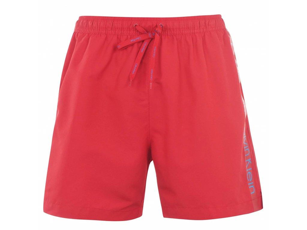 Pánské šortky Calvin Klein Taped Swim Červené