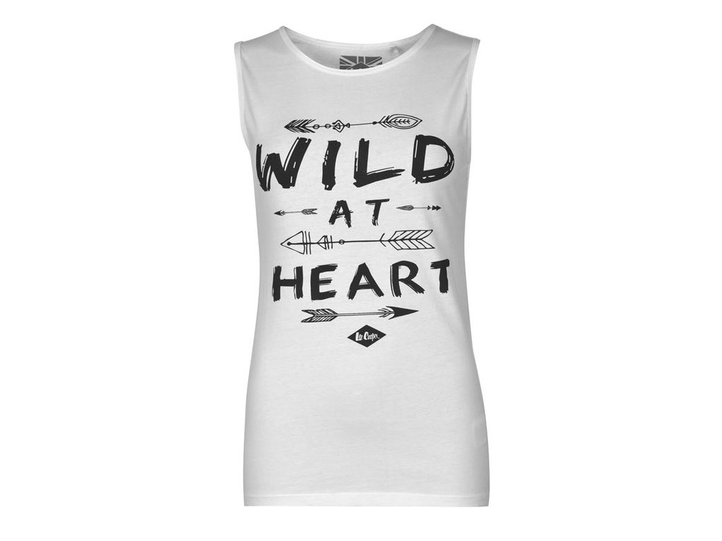 Dámské Tílko Tričko Lee C Wild Bílé
