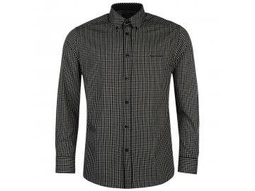 Pánská Košile s dlouhým rukávem Pierre Cardin Černá Check