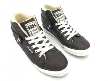 Dámské boty British Knights s kožíškem Hnědé