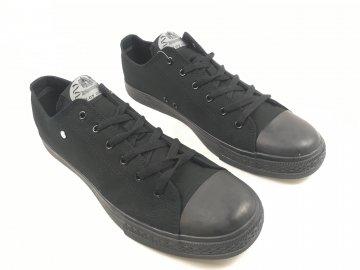 Pánské Boty Dunlop Canv Černočerné