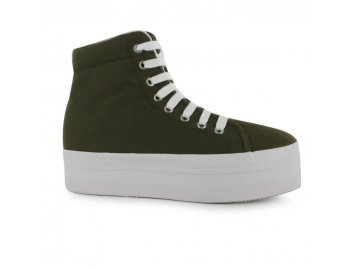 Dámské boty na platformě Dreamstock Khaki