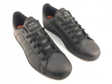 Kožené boty Lonsdale Leyton Černé