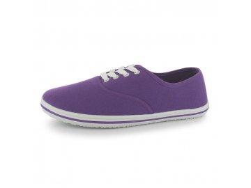 Dámské boty Slazenger Canvas Pump Fialové