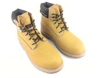 Kožené boty farmářky Dunlop Nevada Béžové