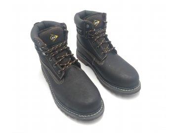 Kožené boty farmářky Dunlop Nevada Hnědé