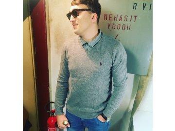 Pánský svetr Ralph Lauren V Šedý