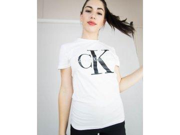 Dámské triko Calvin Klein Short Bílé