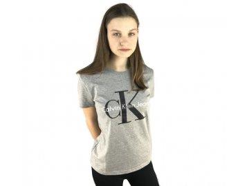 Dámské triko Calvin Klein Short Šedé