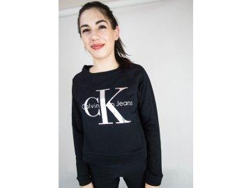 Dámská mikina Calvin Klein Vintage Logo Černá