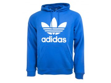 Mikina adidas Originals Trefoil Hoody Unisex Modrá