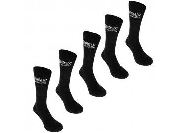 Ponožky Lonsdale 5 v balení Černé