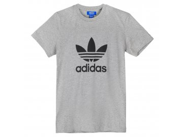 Triko adidas Originals Trefoil Šedé