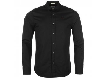 Pánská košile Tommy Hilfiger Stretch Černá