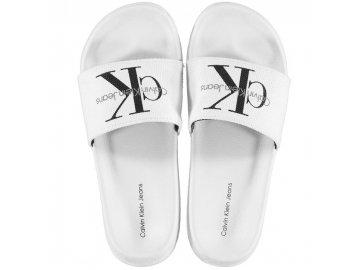 Pantofle Calvin Klein Chantal Bílé
