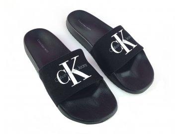 Pantofle Calvin Klein Chantal Černé