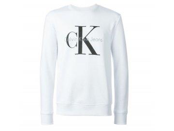 calvin klein jeans white logo print sweatshirt product 3 236008488 normal