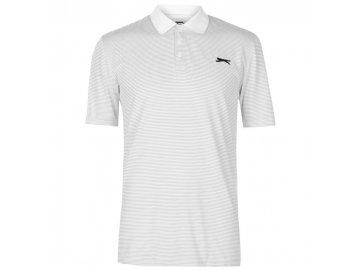 Pánské triko Slazenger Micro Stripe Bílé