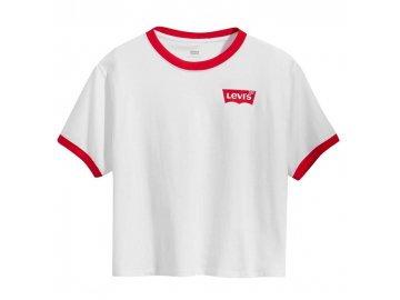Dámské triko Levis Ringer Bílé