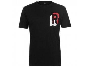 Pánské triko Replay Chest Logo Černé